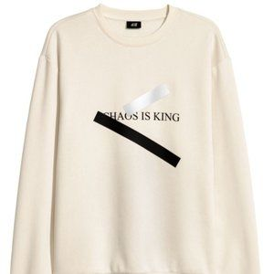 H&M Sweatshirt with Motif Chaos is King size S
